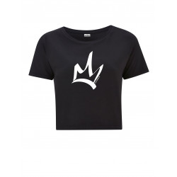 T-Shirt court femme NOIR - The Queen blanc
