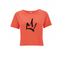 T-Shirt court femme corail - The Queen noir