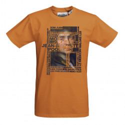 T-Shirt AKA homme orange -...