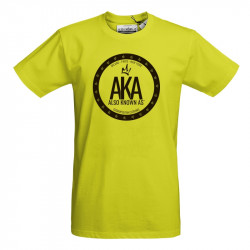 "T-shirts homme jaune-AKA ""The Shield"""