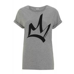 T-shirt loose femme gris - The Queen noir