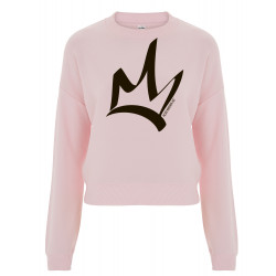 Sweat femme court rose - The Queen Noir