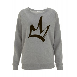 Sweat femme manches raglan Light Heathe - The Queen Noir